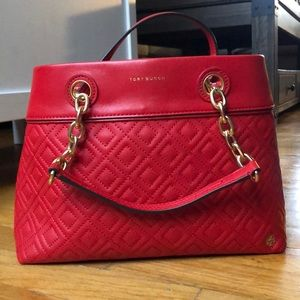 Tory Burch Fleming Quilted Satchel